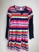 Gymboree  8 multi-color striped long sleeve dress Cotton EUC