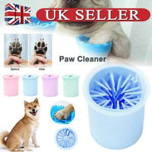 Portable Pet Foot Washer Cup Dog Paw Cleaner Paw Cleaning Brush Cup Quickly Wash