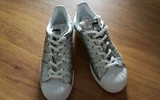 Adidas Superstar Schuhe Sneaker Gr. 36 2 3 Weiß Metallic Silber - sehr gut 755c170065