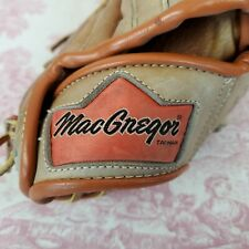 """Vintage MacGregor Leather Brown Baseball Glove G19T Right Hand Throw Mitt 11"""""""
