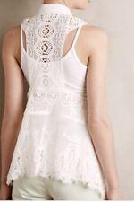 Meadow Rue White Lace Drape Vest Size XS/S Anthropologie