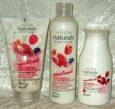 Avon Naturals Body Care 3-teiliges Körperpflege-Set JOGHURT Peeling Duschgel...