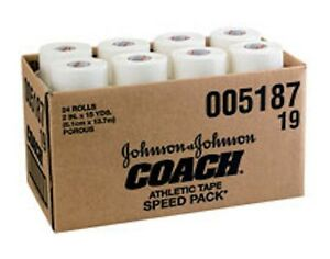 """4 Rolls 1 1/2"""" OR 2"""" x 15yd Athletic Muscle Support Wrap - Coach tape 5188, 5187"""