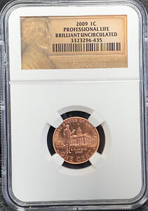 2009 1C Professional Life Lincoln Brilliant Uncirculated NGC