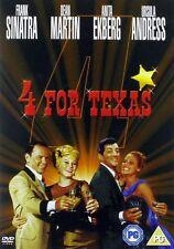 4 FOR TEXAS [1963] Frank Sinatra/Dean Martin/Ursula Andress New/Sealed DVD R2
