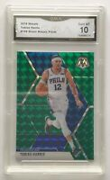 TOBIAS HARRIS MOSAIC PRIZM GREEN CARD 76ERS 2019-20 MOSAIC GMA 10 GEM MINT