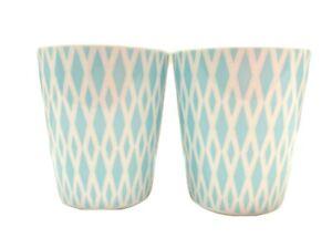 IKea Tumbler Ceramic Drinking Glass 22763 Made in Poland Retro Set 2