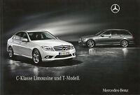 Mercedes C-Klasse Limousine T-Modell Prospekt 2009 6/09 63 AMG 300 350 180