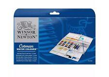 Winsor Newton Cotman Watercolour Painting Plus + Set - 16 Half Pans + 3 Tubes