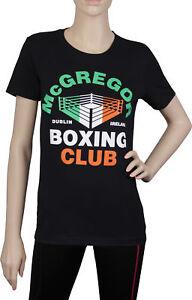UFC Womens Conor McGregor Notorius Boxing Club T-Shirt - Black - Small