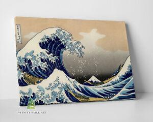 The Great Wave off Kanagawa Japanese Hokusai Canvas Wall Art Print Picture -C414