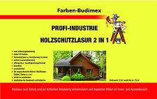 Farben-Budimex Profi Industrie Holzschutzlasur 2 in 1 , Hellgrau  / 5 L
