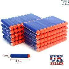 120pcs Nerf Gun Soft Refill Bullets Darts Round Head Blasters for N-strike Toy 60pcs