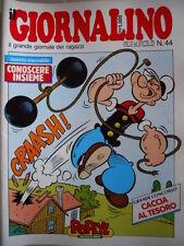 GIORNALINO n°44 1986 Agente Allen Popeye Mitty Poochie Piccolo Dente + in [G261]