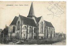 CPA - CROMBEKE - L'église - 19/05/1918 - A circulé - Non timbrée - 2 photos