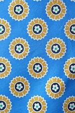 Baekgaard Vera Bradley Riviera Blue Floral Yellow Motif Silk Tie RARE Retired
