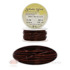 20 Gauge Rich Brown Artistic Craft Wire Non Tarnish 6 Yd Wrapping Craft Project
