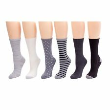 Cuddl Duds Plushfill Socks VALUE PACK 6 Pr Multi-Color Gray Ladies Sz 4-10 New