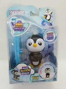 NEW Fingerlings TUX Penguin Light Up HAIR Motion Sensor WOWWEE Surfboard FUN