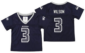Outerstuff NFL Toddler Girls Seattle Seahawks Russell Wilson #3 Player Jersey
