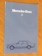 1981 Mercedes-Benz S Class 380SE to 500SE/SEL original 50 page brochure