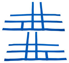 Raptor 700 660 Nerf Bar Nets Fits Alba Racing Tusk with heel guard Blue J