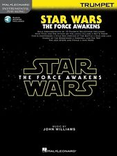 Star Wars The Force Awakens Trumpet Play-Along Book *NEW* Music AAI