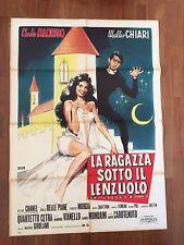 MANIFESTO,2F,1961,La ragazza sotto il lenzuolo,Girolami.Chiari,Chelo Alonso,SEXY