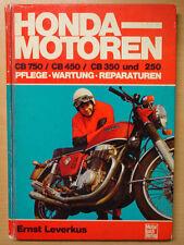 Honda-Motoren CB750 CB450 CB350 250 Reparaturanleitung Reparaturbuch Hand-Buch