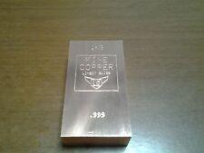 Lingote Cobre .999 Puro de 1Kg. made in Swiss