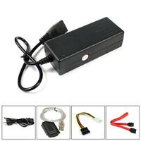 480MBps USB2.0 IDE SATA 2.5 3.5 Hard Drive HD HDD Converter Adapter Silver Cable