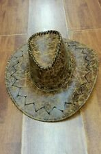 NEW Brown western Cowboy/cow boy Leather Look hat  Cowgirl Costume