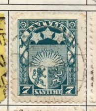 Latvia 1923 Early Issue Fine Used 7s. 182331