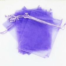10pcs Drawstring Organza Bags Jewelry Pouches Wedding Party Gift Bag Lavender