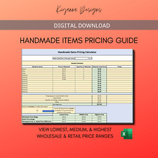 Handmade Items Pricing Guide | Craft Pricing | Digital Download