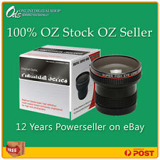 ODS 0.22x Fisheye Lens-37mm Sony JVC,Canon DSLR-Video Camcorder+FREE Lens Cleane