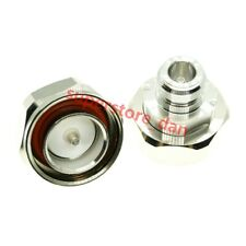 1Pcs 7/16 DIN Male L29  jack to N Female plug RF coaxial adapter connector M/F