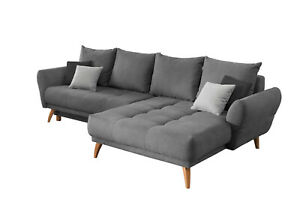Ecksofa mit Schlaffunktion und Bettkasten Eckcouch Polsterecke Couch Sofa 42506
