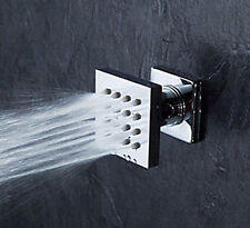 One piece Brass Square Massage Shower Body Jet Spray Head For Spa Bath & Shower