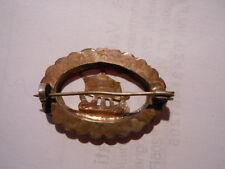 Spilla Veliero in ovale vintage Broche Badge