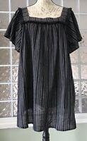 ISABEL MATERNITY Target NWT Black Vertical Stripe Fringe Boho Top Blouse  XL