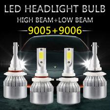 2 Pairs 9005+9006 Combo CREE LED Headlight Kit High & Low Beam Light Bulbs