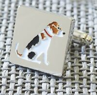 JACK RUSSELL TERRIER DOG Cufflinks | Silver Plated | Gift Box | Present for Men