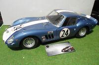 FERRARI 250 GTO # 24 de 1962 bleu au 1/12 REVELL macchina in miniatura