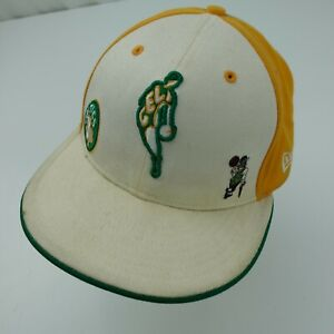 Boston Celtics New Era Hardwood Classic Ball Cap Hat Fitted 7 1/8 Baseball Adult