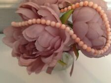 Genuine Angel Skin Pale Pink Coral Necklace 22.5 inches in Length