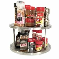 Lazy Susan 10 inch Two Tier Turntable Spice Rack Cabinet Organizer also for Appe