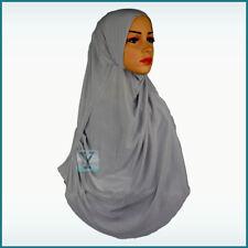 1 Piece Hijab stretch pull on ready Amira Instant Abaya Scarf Headscarf islamic