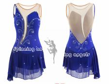 Ice Figure Skating Dress /Rhythmic Gymnastics /Twirling Competition blue