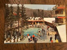 New listing Ski Area Scene Mt Snow Vermont Postcard Swimming Pool Central Tower